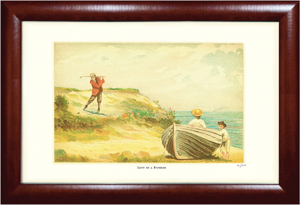 Left in a Bunker Golf Print