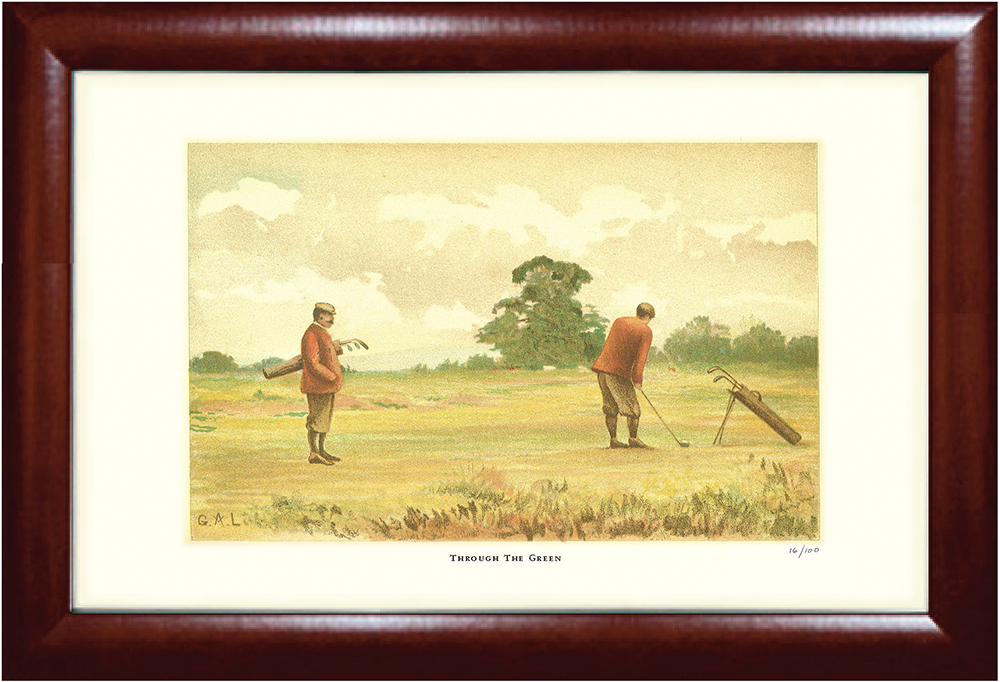 Through the Green Golf Print