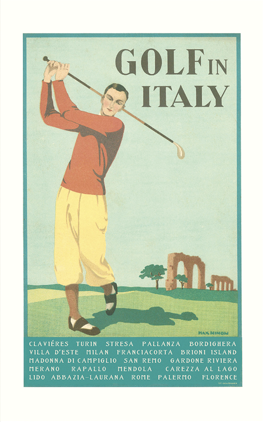 Golf In Italy Print