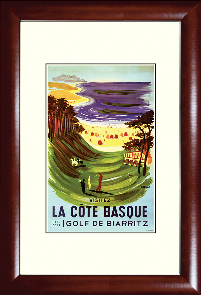 Biarritz: La Côat Basque Golf Print