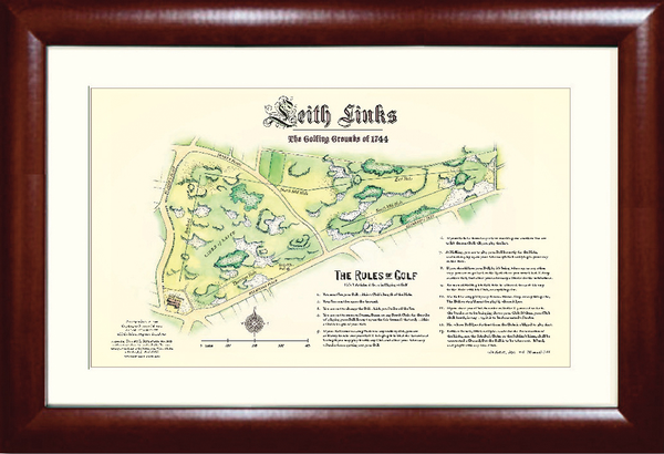 Leith Links & Rules of Golf Print