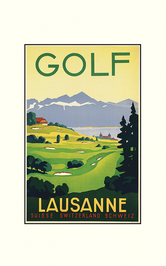 Golf Lausanne Switzerland Print