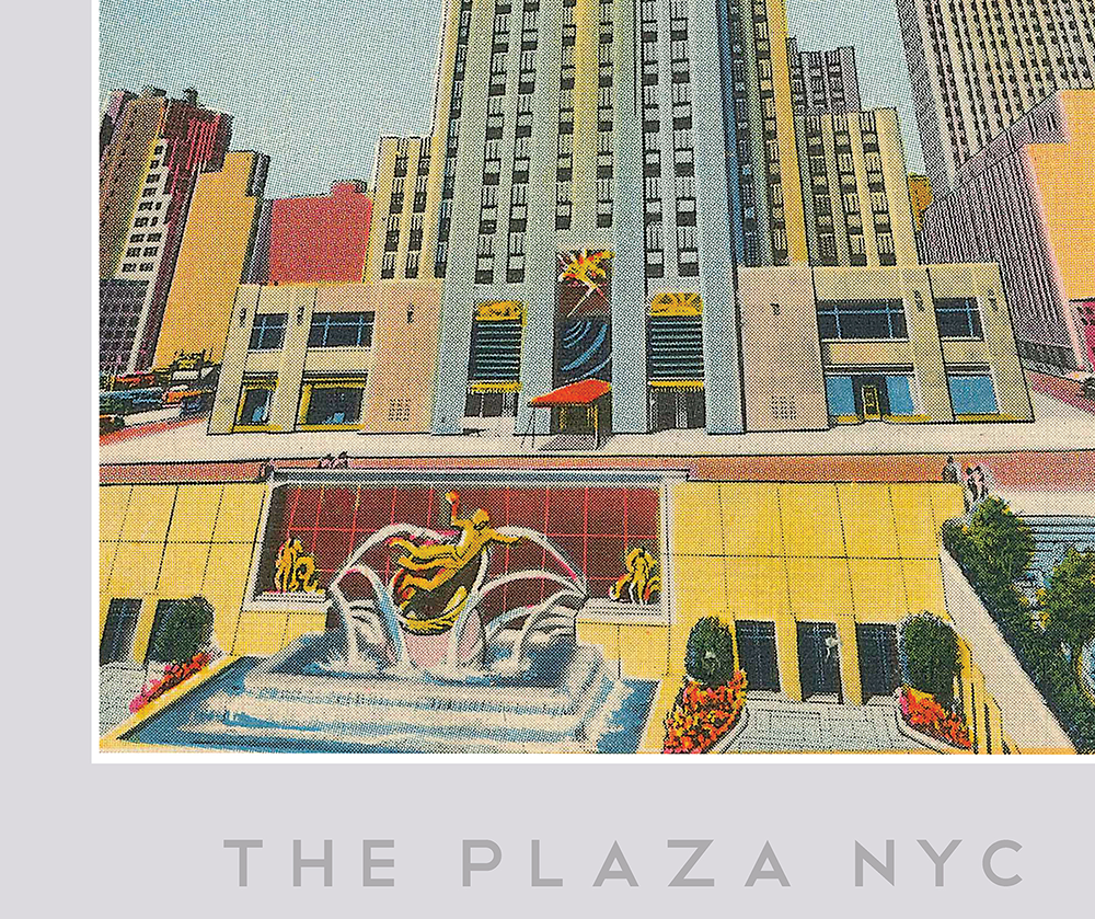The Plaza NYC (Rockefeller Plaza) Print