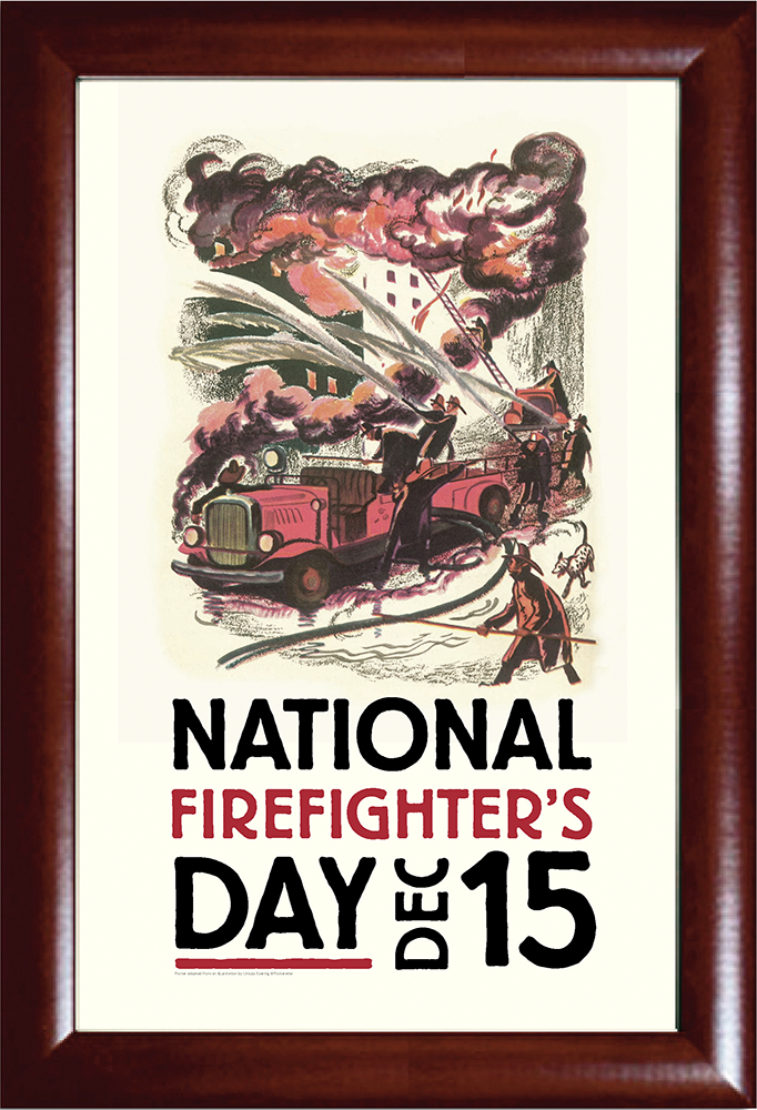 National Firefighter's Day Print