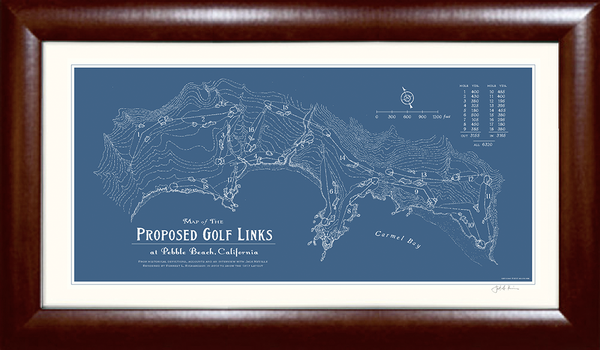 Map of Proposed Golf Links at Pebble Beach, Calif. Print