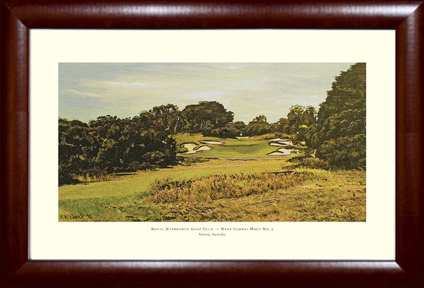 Royal Melbourne West Course No. 5 Golf Print