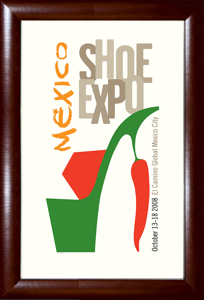 Mexico Shoe Expo Print