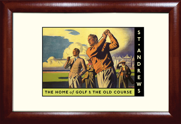 Classic St. Andrews Golf Travel Poster