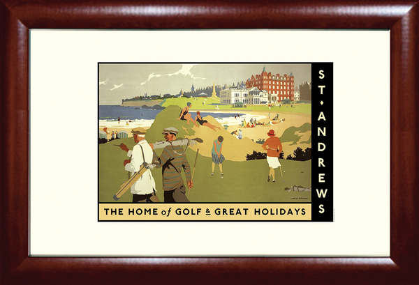 St. Andrews Holiday Golf Travel Poster