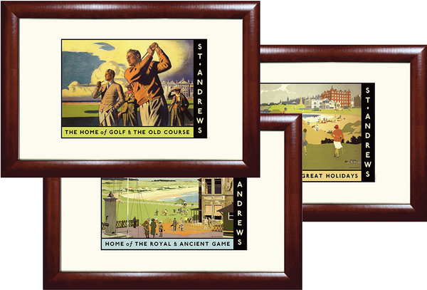St. Andrews Golf Travel Poster Set