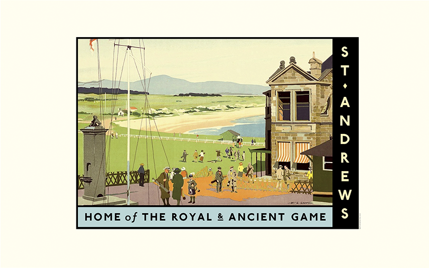 Royal & Ancient Golf Travel Poster