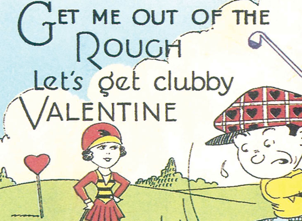 Let's Get Clubby Valentine Golf Print