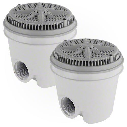 Pentair StarGuard Main Drain Complete 500114 - Gray - Two Pack