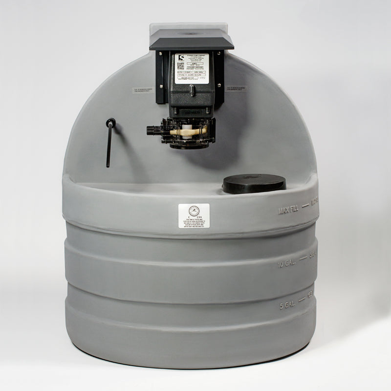 Stenner Tank (120V/60Hz – 30 Gal) Acid Feeder-The Pool Supply Warehouse