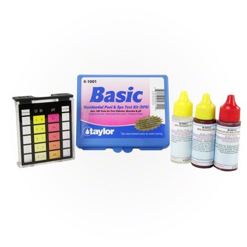 Basic Residential Swimming Pool Spa 3 Way Test Kit - Test Kit - TAYLOR TECHNOLOGIES INC - The Pool Supply Warehouse
