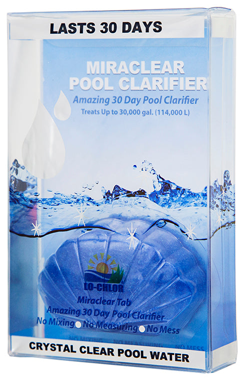 Miraclear® Pool Clarifier Tab 30K Gal - Clarifier - LO-CHLOR, LLC - The Pool Supply Warehouse