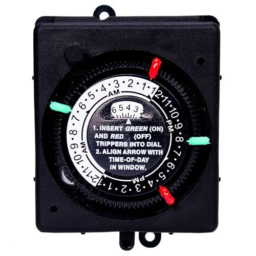 24-Hour Panel Mount Timer with Manual Override - Timer - INTERMATIC INC - The Pool Supply Warehouse
