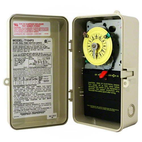 Intermatic T104P3 Mechanical Timer 220 Volt Beige Case - Timer - INTERMATIC INC - The Pool Supply Warehouse