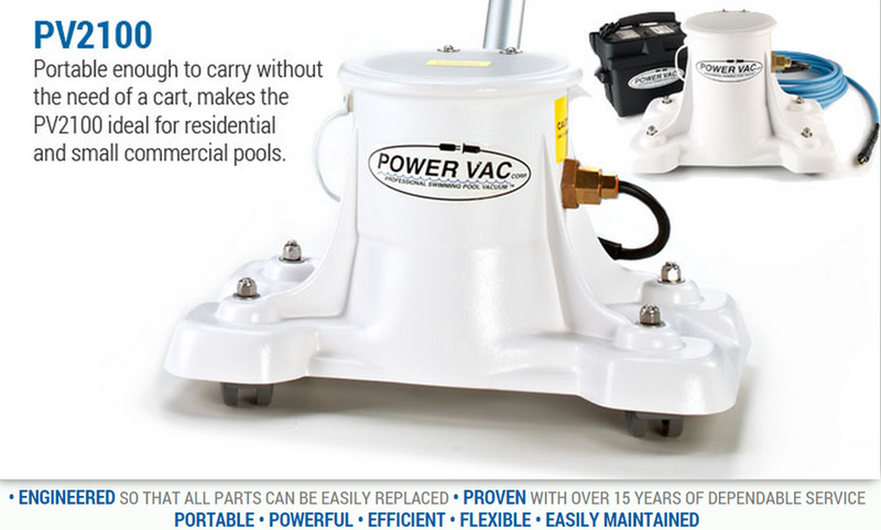 PV2100 Power Vac - 40' Cord - Vacuum - POWER VAC CORP - The Pool Supply Warehouse