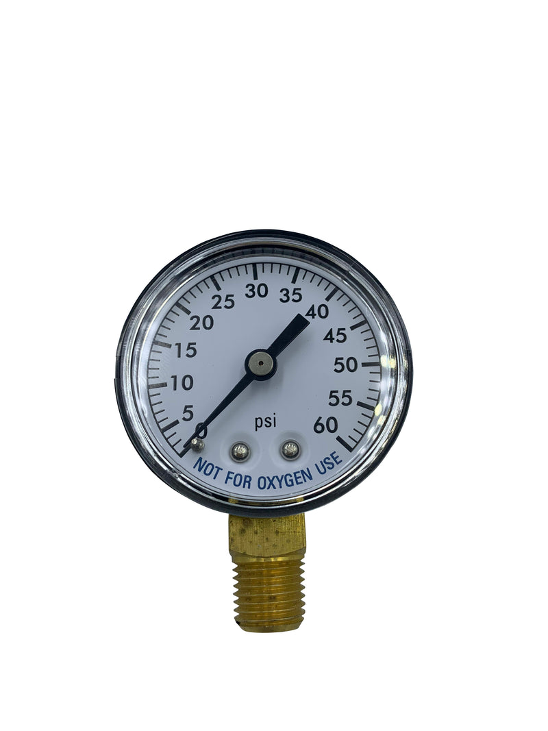 Filter Pressure Gauge 0-60PSI Bottom Mount-The Pool Supply Warehouse
