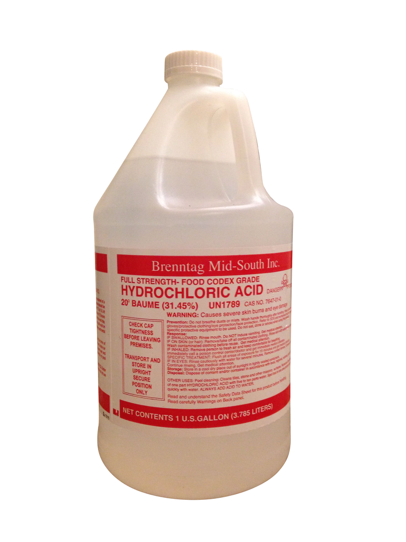 Muratic Acid 1 Gallon - Pool Chemicals - Poolosophy LLC - The Pool Supply Warehouse