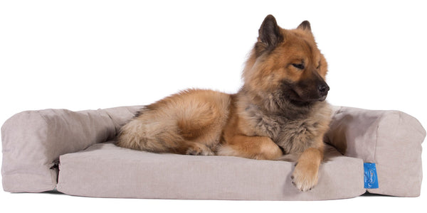 silentnight supreme collection pocket sprung dog bed bolster set signature mink_1
