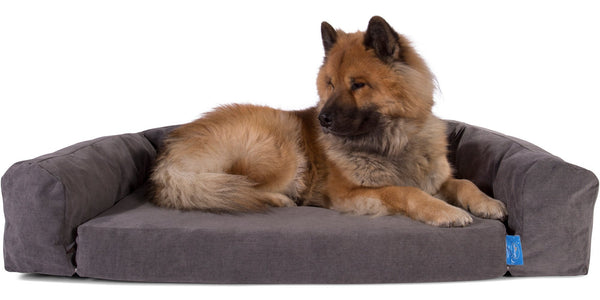 silentnight supreme collection pocket sprung dog bed bolster set signature graphite_1