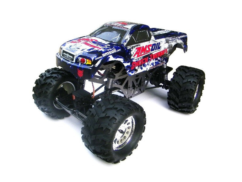 Redcat Racing Ground Pounder 1/10 Scale Electric Monster Truck (Amsoil Body)(3-Channel 2.4GHz Remote Control) from Redcat Racing available at RC Car PLUS - 1