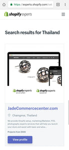 Shopify Web Design & Development in Bangkok Thailand with Set up Payment Gateways Integration services