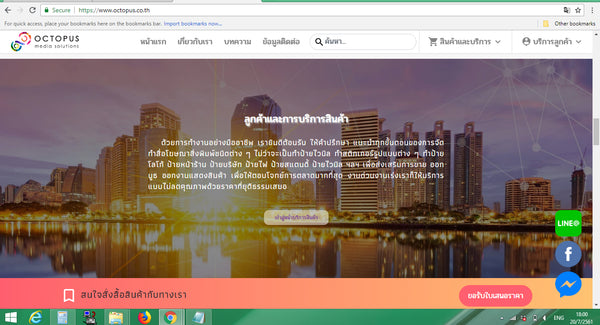 Ecommerce Web Design & Development in Bangkok Thailand for Octopus 4