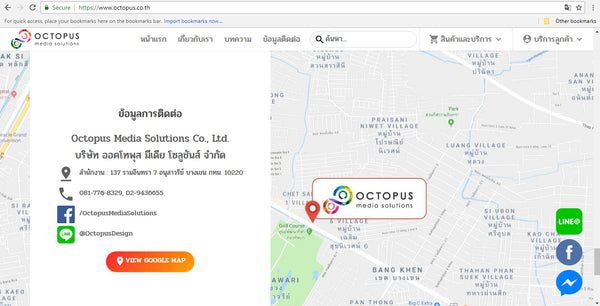 Ecommerce Web Design & Development in Bangkok Thailand for Octopus 9