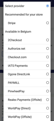 Shopify Payment Gateways Belgium