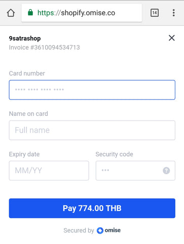 Shopify Omise Payment Gateways Integration Bangkok Thailand