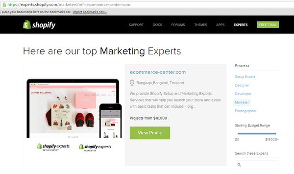 Shopify Marketing Expert Official Partner Thailand