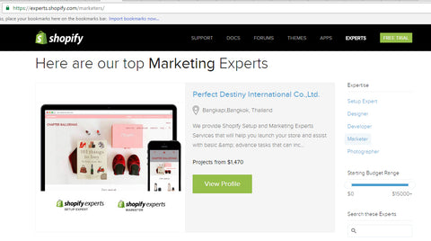 Shopify top expert in Thailand
