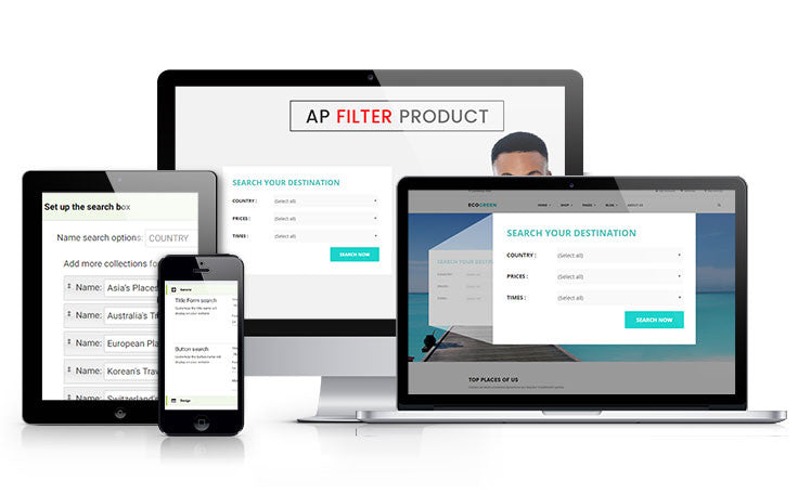 AP Shopify Product Filter Function - JC app set up and implementation services.