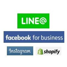Shopify Social Commerce Line@ Facebook Instagram