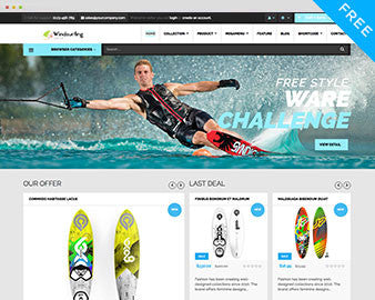 Ap Free windsurfing shopify theme