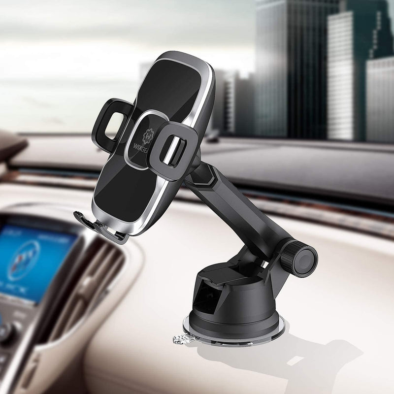 Phone Holder for Car, WixGear Universal Dashboard Windshield Phone Car Suction Cup Mount Holder for Cell Phone 360 Degree Rotation Compatible with iPhone Xs/XS Max / 8/7 / 6, Galaxy S and More