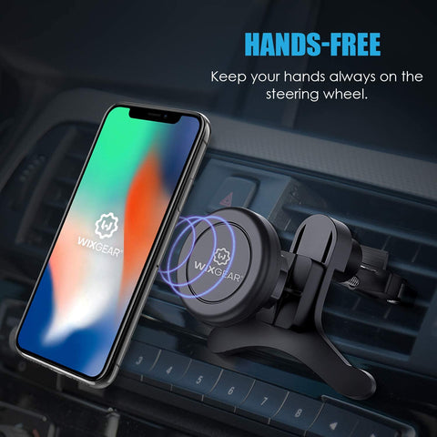 WixGear Universal Air Vent Magnetic Car Mount Holder With lock with Fast Swift-Snap tech