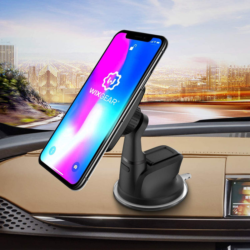 Dashboard Mount, WixGear Universal Magnetic Car Mount Holder, Windshield Mount and Dashboard Mount Holder for Cell Phones with Strong Dashboard Gell– (New Rectangle Head)