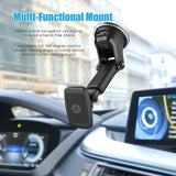 Magnetic Phone Car Mount, WizGear Universal Magnetic Car Mount Holder, Windshield Mount and Dashboard Mount Holder for Cell Phones and Tablets with Long Arm – (New Telescopic Arm)