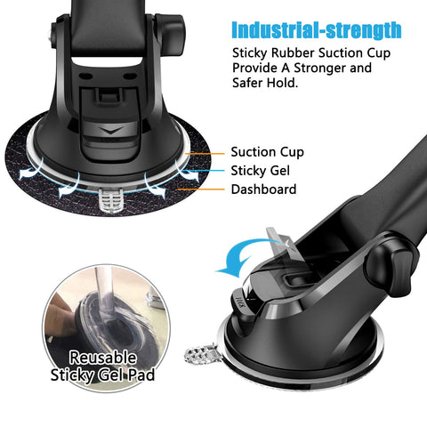WizGear Automatic Wireless Car Charging Mount, With Telescopic Arm and Air Vent, Qi 10W 7.5W and 5W Fast Charging with Smartphone Holder For iPhone Xs Max XR 8 Samsung S10 S9 (New Full Automatic Arms)