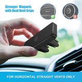 Magnetic Mount, WixGear Universal Air Vent Magnetic Phone Holder for Car, for Cell Phones and Mini Tablets,with Double Prongs and Extra Strong with 8 Magnets for Big Phones!