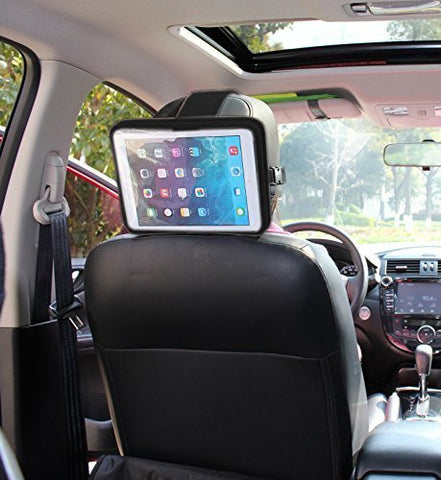 Universal Tablet Headrest Mount, Ipad Headrest Mount for Car, Lightweight, Durable and Easy to Headrest Cradle Car Mount - Perfect for Mounting Ipads and Tablets up to 10-inch Screen Tablet