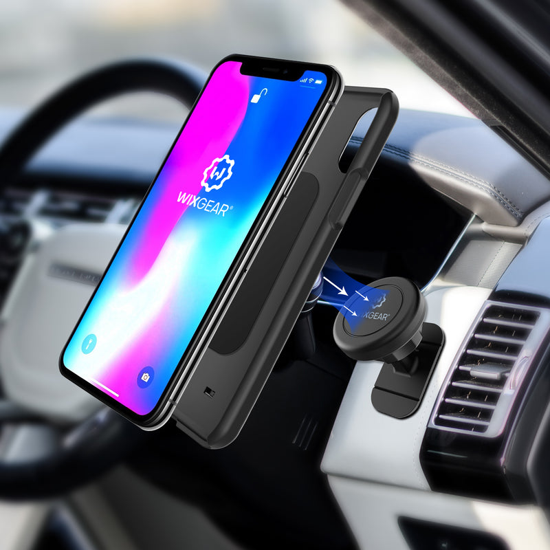 WixGear Magnetic Mount, Universal Stick-On Dashboard Magnetic Car Mount Holder, for Cell Phones and Mini Tablets with Fast Swift-snap Technology, Magnetic Cell Phone Mount