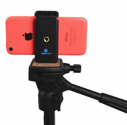 Cell Phone Tripod Adapter, WizGear Universal Smartphone Holder Tripod Adapter for Smaller Smartphones As iPhone 6 5 5c 5S Samsung Galaxy S3 S4 Nexus 5 LG G3