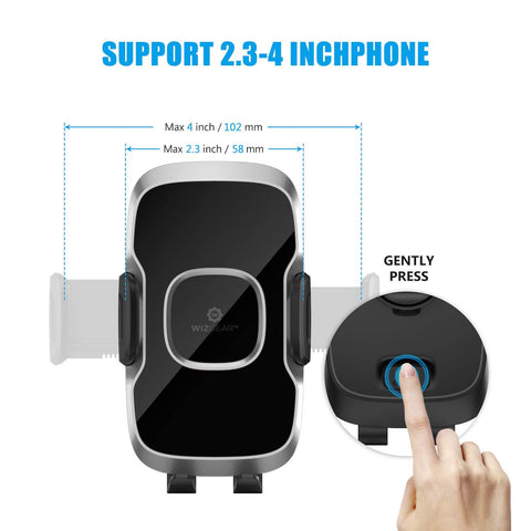 2 Pack Air Vent Swift-Grip Phone Holder for Car Cell Phone Car Mount Air Vent Holder for Any Smartphone with Twist Lock Base Car Phone Mount WizGear