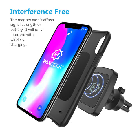 WixGear Universal Bite-lock Air vent Magnetic Phone Car Mount Holder, for Cell Phones with Swift-snap Technology