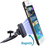 [New Rectangle Design] CD Slot Magnetic Car Mount Holder, for Cell Phones and Mini Tablets with Fast Swift-Snap Technology, Magnetic Cell Phone Mount